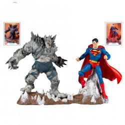 DC COLLECTOR SUPERMAN V DEVASTATOR 7IN SCALE ACTION FIGURE 2 PACK 18 CM