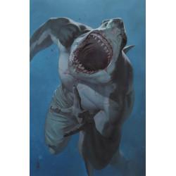 SUICIDE SQUAD KING SHARK 1 OF 6 CVR B FEDERICI CARD STOCK VAR MR