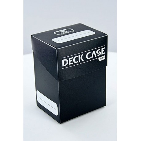DECK CASE 80DOUBLE SLEEVED CARD STANDARD BLACK CASE