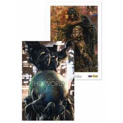 PACK DEDICACE : LEE BERMEJO - BATMAN THE WORLD + EX LIBRIS EXCLUSIF