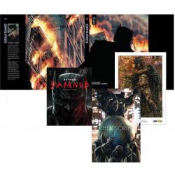 PACK DEDICACE : LEE BERMEJO - BATMAN THE WORLD + EX LIBRIS EXCLUSIF + BATMAN DAMNED + JAQUETTE EXCLUSIVE