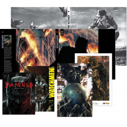 PACK ULTIME DEDICACE : LEE BERMEJO - BATMAN THE WORLD + EX LIBRIS + BATMAN DAMNED + JAQUETTE + RORSCHACH + JAQUETTE