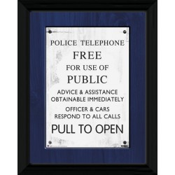 DOCTOR WHO TARDIS SIGN COLLECTOR FRAME 45 X 34 CM