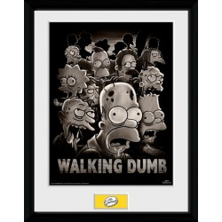 WALKING DUMB THE SIMPSONS COLLECTOR FRAME 45 X 34 CM