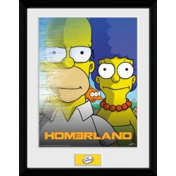 HOMERLAND THE SIMPSONS COLLECTOR FRAME 45 X 34 CM