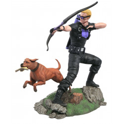 HAWKEYE WITH PIZZA DOG MARVEL COMIC GALLERY STATUE 23 CM