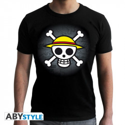 SKULL WITH MAP HOMME MC BLACK TAILLE S ONE PIECE TSHIRT
