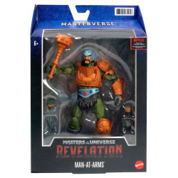 MAN-AT-ARMS MASTERS OF THE UNIVERSE: REVELATION MASTERVERSE 2021 FIGURINE 18 CM