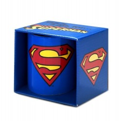 DC COMICS SUPERMAN LOGO BOXED MUG