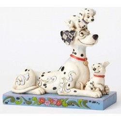 PUPPY LOVE THE 101 DALMATIANS DISNEY TRADITIONS STATUE