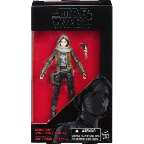 SERGEANT JYN ERSO STAR WARS ROGUE ONE BLACK SERIES 6INCH ACTION FIGURE