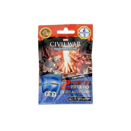 CIVIL WAR MARVEL DICE MASTERS FOIL PACK