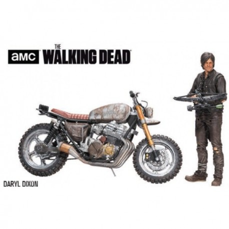 DARYL DIXON AND CUSTOM BIKE THE WALKING DEAD ACTION FIGURE AND VEHICLE