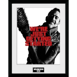 NEGAN GETTING STARTED PRINT THE WALKING DEAD COLLECTOR FRAME