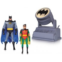 BATMAN ROBIN AND BATSIGNAL BATMAN THE ANIMATED SERIES 2PACK ACTION FIGURES