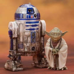 YODA AND R2D2 DAGOBAH STAR WARS ART FX 2PACK STATUES
