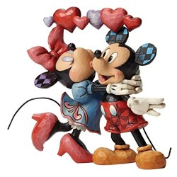 MICKEY AND MINNIE LOVE IS IN THE AIR RESIN STATUE