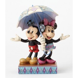 MICKEY AND MINNIE MOUSE RAINY DAY ROMANCE RESIN STATUE