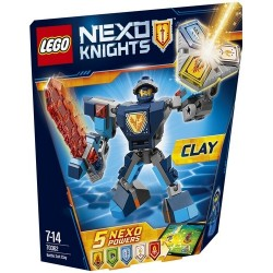 SUPER ARMOR CLAY NEXO KNIGHTS LEGO BLISTER