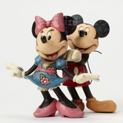 MICKEY AND MINNIE MOUSE FOR MY SWEETHEART RESIN STATUE