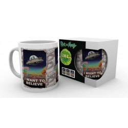 RICK AND MORTY I WANT TO BELIEVE BOXED MUG