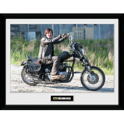 DARYL MOTORCYCLE PRINT THE WALKING DEAD COLLECTOR FRAME