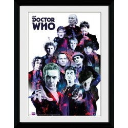 GENERATIONS OF DOCTORS DOCTOR WHOCOLLECTOR FRAME 45 X 34 CM
