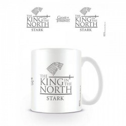 KING IN THE NORTH STARK GAME OF THRONES BOXED MUG