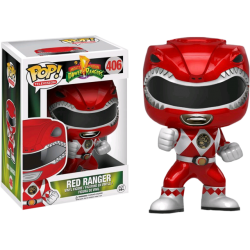RED RANGER METALLIC MIGHTY MORPHIN POWER RANGERS POP! TV VYNIL FIGURE