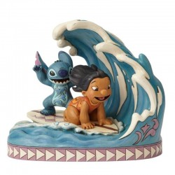 CATCH THE WAVE LILO AND STITCH DISNEY TRADITIONS STATUE