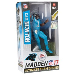 CAM NEWTON BLUE JERSEY NFL MADDEN 17 ULTIMATE TEAM SERIES 3 FIGURE