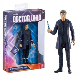THE TWELFTH DOCTOR GREY HOODIE AND JUMPER DOCTOR WHO ACTION FIGURE