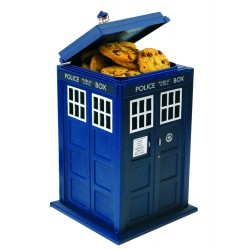 TARDIS TALKING COOKIE JAR LIGHT AND SOUND