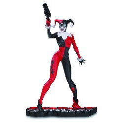 HARLEY QUINN RED BLACK AND WHITE BY JIM LEE RESIN STATUE