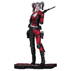 HARLEY QUINN INJUSTICE 2 RED BLACK AND WHITE RESIN STATUE