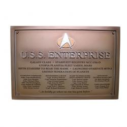 U.S.S ENTERPRISE NCC 1701 D STAR TREK DEDICATION PLAQUE NUMERO 4