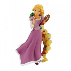 RAPUNZEL PAINTING TANGLED DISNEY PLASTIC FIGURE