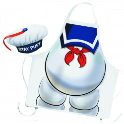STAY PUFT GHOSTBUSTERS APRON AND CHEF HAT