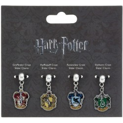 HOGWARTS HOUSE CRESTS HARRY POTTER SLIDER CHARMS SET