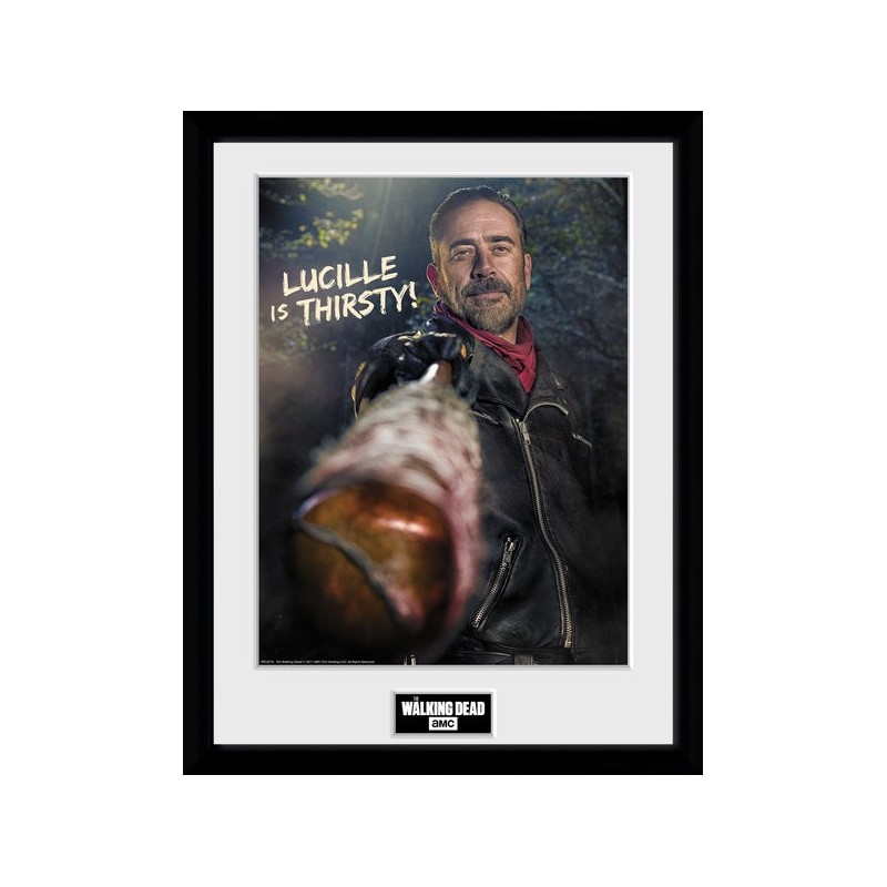 NEGAN LUCILLE IS THIRSTY PRINT THE WALKING DEAD COLLECTOR FRAME ...