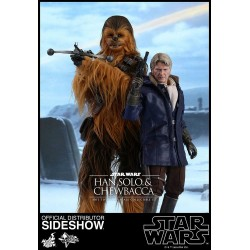 PACK HAN SOLO & CHEWBACCA STAR WARS EPISODE 7 1/6 SCALE ACTION FIGURE