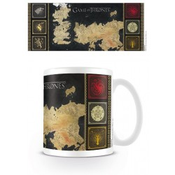 MAP OF WESTEROS GAME OF THRONES BOXED MUG