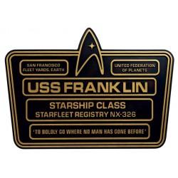 U.S.S FRANKLIN NX-326 STAR TREK DEDICATION PLAQUE NUMERO 5