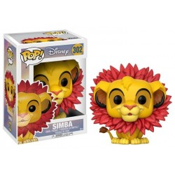 SIMBA WITH LEAF MANE THE LION KING DISNEY POP! VINYL FIGURE