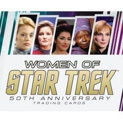 WOMEN OF STAR TREK 50TH ANNIVERSARY TRADING CARDS 5 PACK