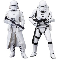 FIRST ORDER SNOWTROOPER AND FIRST ORDER FLAMETROOP STAR WARS THE FORCE AWAKENS ARTFX TWO PACK FIGURE