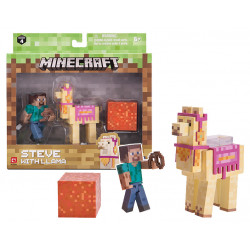 STEVE WITH LLAMA MINECRAFT 2 PACK ACTION FIGURE