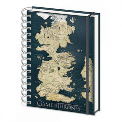 MAP OF WESTEROS GAME OF THRONES A5 RULED NOTEBOOK