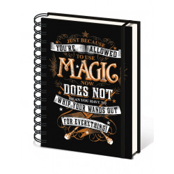 MAGIC HARRY POTTER RULED NOTEBOOK