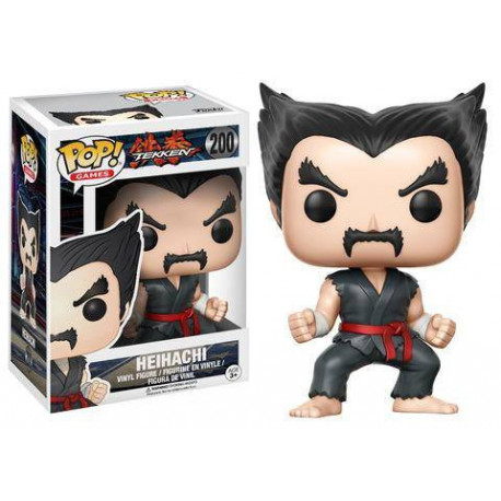 HEIHACHI BLACK AND RED TEKKEN POP! GAMES VYNIL FIGURE